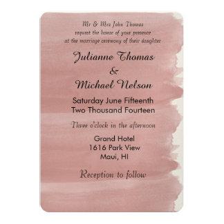 Korallenrote Aquarell-Hochzeit 12,7 X 17,8 Cm Einladungskarte