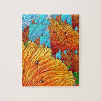 Korallenrote Illustration Puzzle