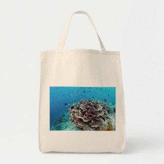 Korallenrote Insel Tragetasche