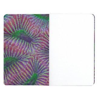 Korallenrote Nahaufnahmen Taschennotizbuch