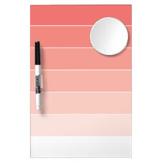 Korallenrote rosa Ombré Streifen Memo Boards