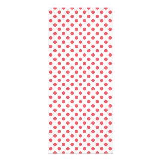 Korallenrote rosa Tupfen durch Shirley Taylor Werbekarte