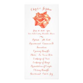 Korallenrote Rosen-einfaches elegantes Werbekarte