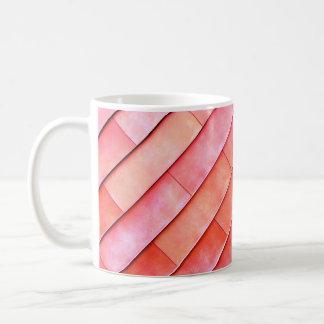Korallenrote Wand-Fotografie-Tasse Kaffeetasse