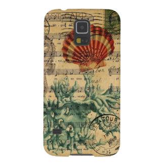 korallenroter Küstenseashell Seepferd Strand Chic Samsung Galaxy S5 Cover