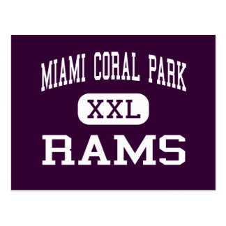 Korallenroter Park Miamis - RAMs - hoch - Miami Postkarte