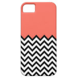 Korallenroter rosa Pfirsich-Farbblock Zickzack iPh iPhone 5 Etui