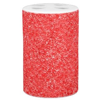 Korallenroter roter Kies-Blick Badezimmer-Set
