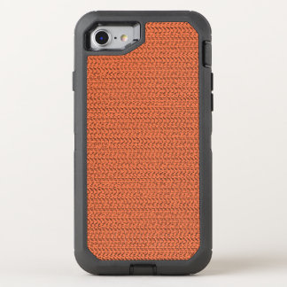 Korallenroter Webart-Maschen-Lachsblick OtterBox Defender iPhone 8/7 Hülle