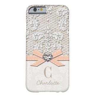 Korallenrotes Rhinestone-Blick-Herz Druckspitze Barely There iPhone 6 Hülle