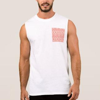 Korallenrotes rosa und Elfenbein-elegantes Ärmelloses Shirt