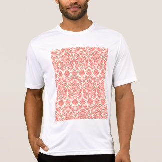 Korallenrotes rosa und Elfenbein-elegantes T-Shirt