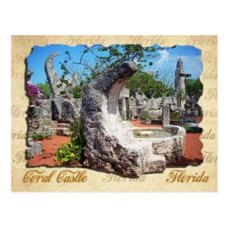 Korallenrotes Schloss, Florida - Mondbrunnen Postkarte