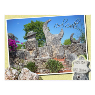 Korallenrotes Schloss, Gehöft, Florida Postkarte
