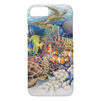 Korallenrotes Wasser mit tropischen Fischen iPhone 8/7 Hülle