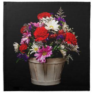Korb der Blumen Stoffserviette
