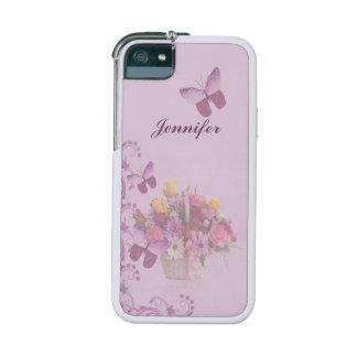 Korb der Blumen und der Schmetterlinge, Name Hüllen Für iPhone 5/5S