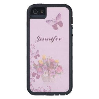 Korb der Blumen und der Schmetterlinge, Name Schutzhülle Fürs iPhone 5