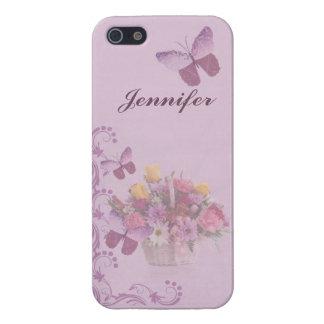 Korb der Blumen und der Schmetterlinge, Name iPhone 5 Cover