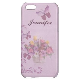 Korb der Blumen und der Schmetterlinge, Name iPhone 5C Cover