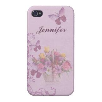 Korb der Blumen und der Schmetterlinge, Name iPhone 4 Etui