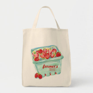 Korb der Erdbeermarkt-Tasche Einkaufstasche