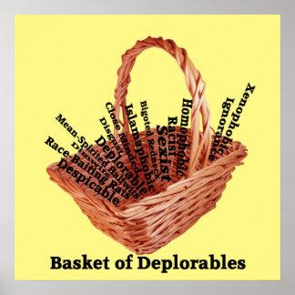 Korb von Deplorables fasst Wert-Plakat-Papier ab Poster