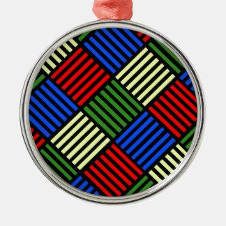 Korbgeflecht Silbernes Ornament