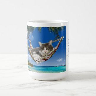 Kordsamt der Tassen-15oz in der karibischen Katze Kaffeetasse
