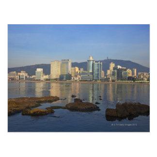 Korea, Gyeongsangnam-tun, Busan, Gwangan Strand Postkarte