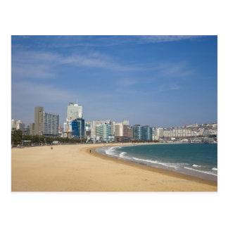Korea, Gyeongsangnam-tun, Busan, Haeundae Strand Postkarte