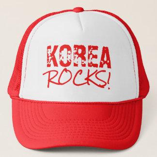 KOREA schaukelt Wort-Grün Truckerkappe