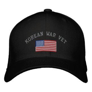 Koreakrieg-Tierarzt mit amerikanischer Flagge Bestickte Kappe