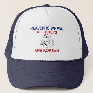 Koreanische Köche Truckerkappe