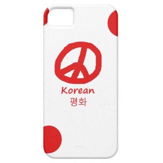 Koreanische Sprache und Friedenssymbol-Entwurf iPhone 5 Etui