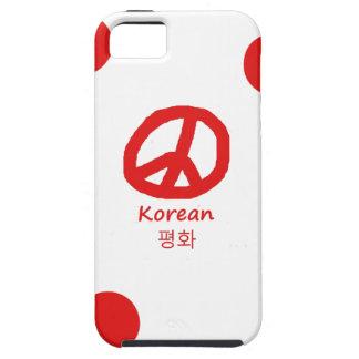 Koreanische Sprache und Friedenssymbol-Entwurf Tough iPhone 5 Hülle