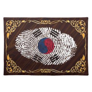 Koreanische Touchfingerabdruckflagge Tischset