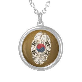 Koreanische Touchfingerabdruckflagge Versilberte Kette