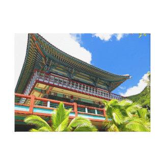 Koreanischer buddhistischer Tempel Leinwanddruck