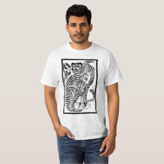 Koreanischer Volkskunst-Tiger T-Shirt