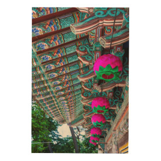 Koreanisches Tempel-Dach-Detail Holzdruck