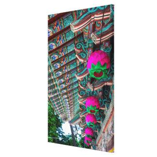 Koreanisches Tempel-Dach-Detail Leinwanddruck