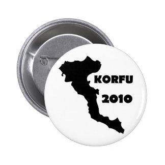 korfu 2010 runder button 5,7 cm