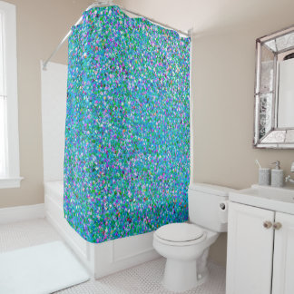 Korn-Glitzer-Mode malendes Mehrfarben#2 Duschvorhang