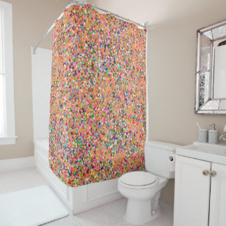 Korn-Glitzer-Mode malendes Mehrfarben#5 Duschvorhang