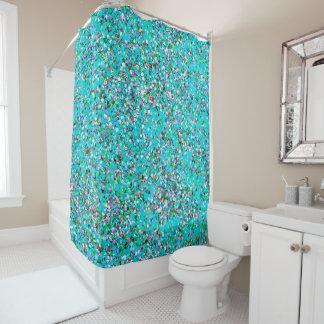 Korn-Glitzer-Mode malendes Mehrfarben#7 Duschvorhang