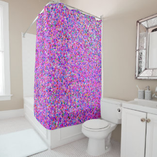 Korn-Glitzer-Mode malendes Mehrfarben#8 Duschvorhang