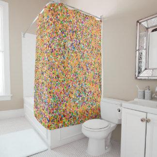 Korn-Glitzer-Mode malendes Mehrfarben#9 Duschvorhang