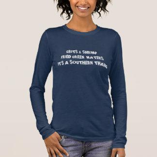 Körner Garnele gebratener grüner Maters südlicher Langarm T-Shirt
