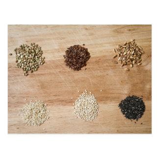 Körner und Samen Postkarte